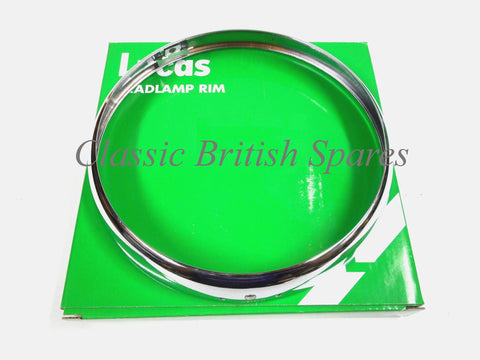 "Genuine Lucas 7"" Chrome Headlight Rim Bezel - 553248"