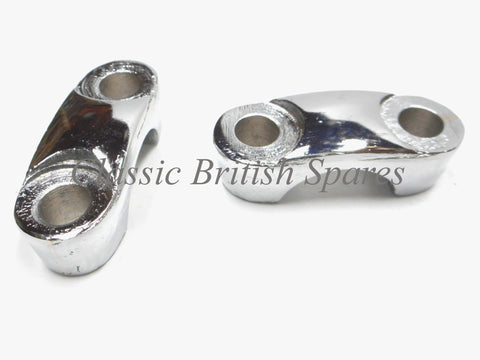 BSA Triumph Chrome Handlebar Mounting Clamp Set 97-2655 65-5333 A65 A10 B25 B31