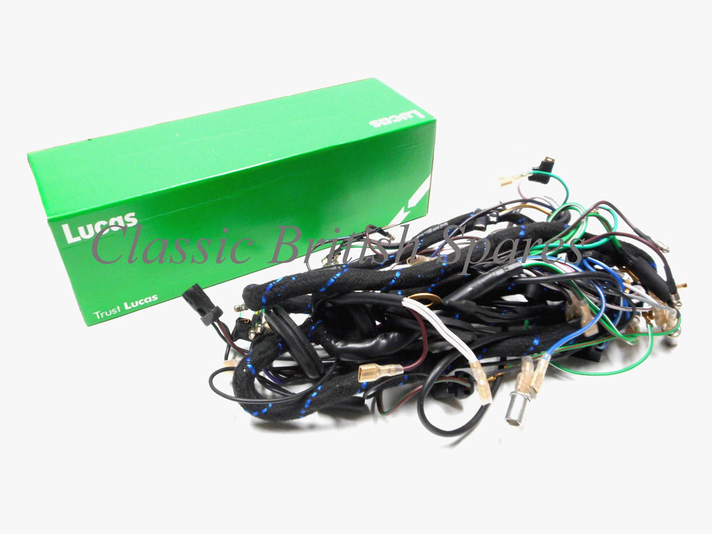 Pleasant Triumph T140 Tr7 Genuine Lucas Cloth Wiring Harness 99 7056 1979 80 Wiring Cloud Rectuggs Outletorg