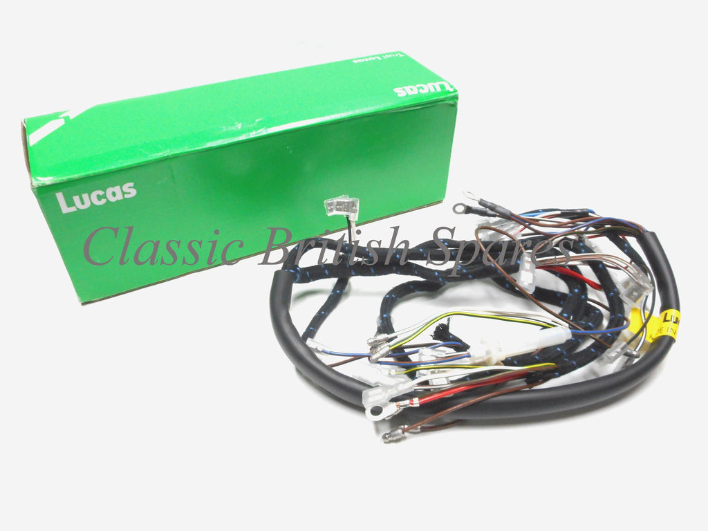 Bsa Lucas Cloth Bound Wiring Harness 54953385 19 0947 1968 A50 The Wire Green Genuine A65