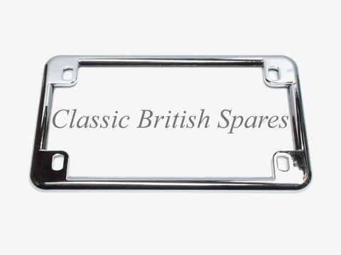 Chrome Universal Motorcycle License Plate Frame
