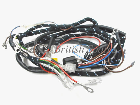 bsa a65 1967 only lucas cloth wiring harness 54938942 classic bsa genuine lucas cloth bound wiring harness 54938942 1967 only a50 a65 500 650