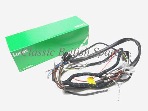 early lucas c15 b40 cloth wiring harness 5494066 classic bsa early distributor c15 b40 lucas cloth bound wiring harness 54940666 1959 63