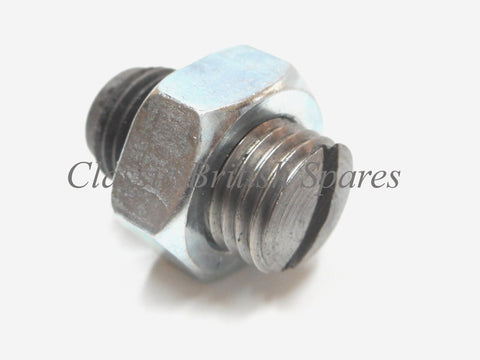 Triumph / BSA Twins UNF Clutch Adjuster Pin W/ Nut (57-2159 & 14-0403) - 1966-82