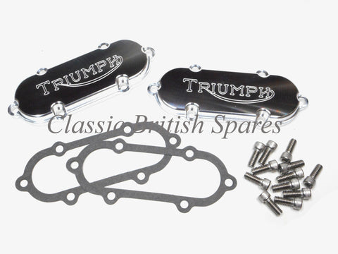 Triumph 750 Custom Rocker Box Cover Set - 1973-82 - T140 / TR7