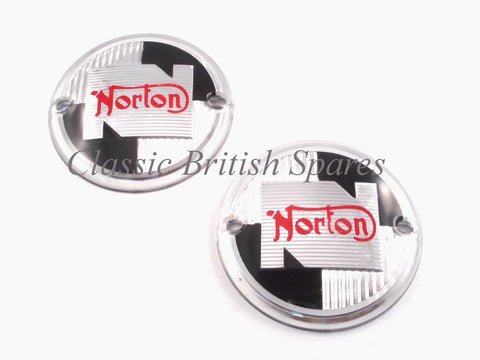Norton Round Tank Badge Set