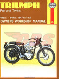 Triumph Pre-Unit Twins Haynes Manual 1947-1962