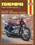 Triumph / BSA Triples Haynes Manual 1968-1975