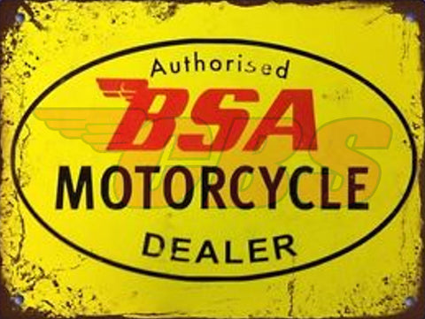 BSA Authorised Dealer Sign - Square