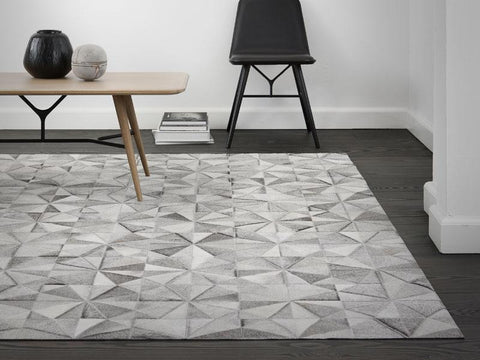 JASMINE GREY LEATHER CARPET 170X240