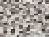 BRILLIANT GREY LEATHER CARPET 170X240