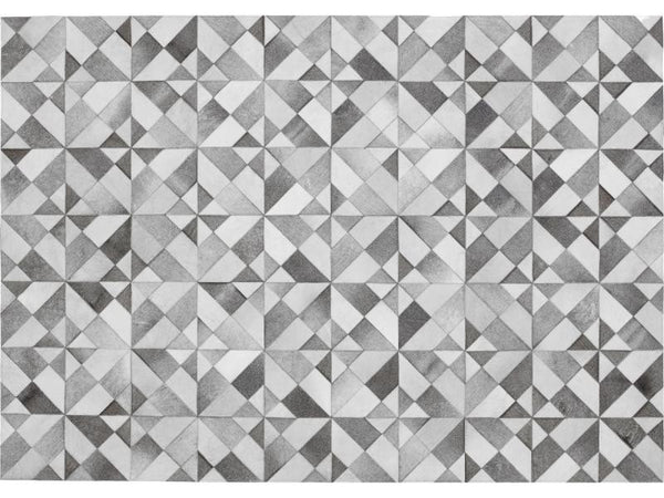 GIZA GREY LEATHER CARPET 170X240