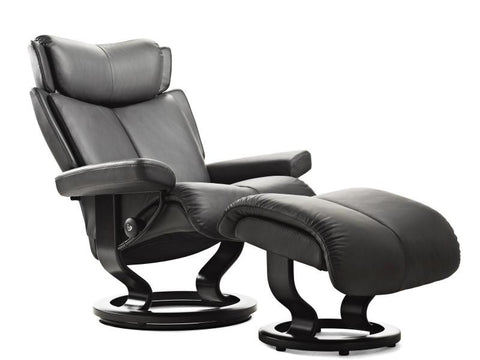 STRESSLESS MAGIC M SET PALOMA ROCK MAHOGANY