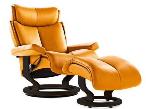 STRESSLESS MAGIC M SET PALOMA CLEMENTINE BLACK