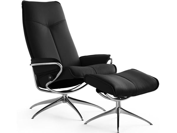 STRESSLESS CITY HB SET BATICK BLACK STD BASE