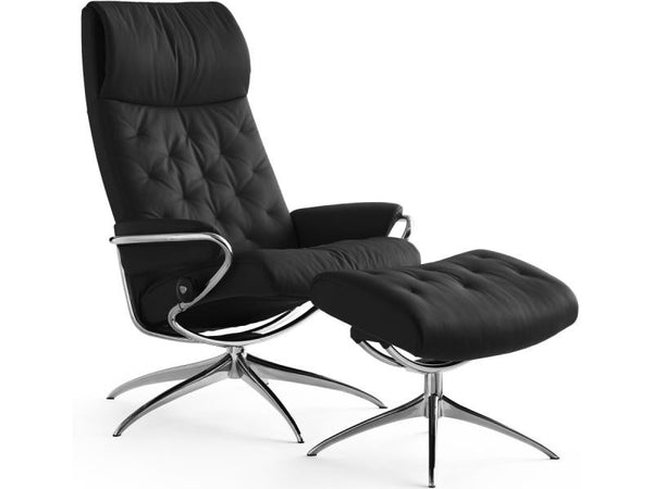 STRESSLESS METRO HB SET BATICK BLACK STD BASE