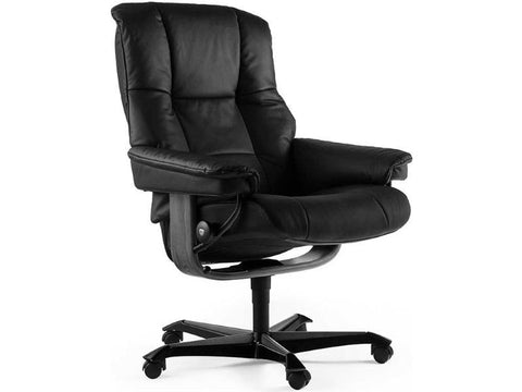 STRESSLESS MAYFAIR M HOME OFFICE CHAIR PALOMA BLACK