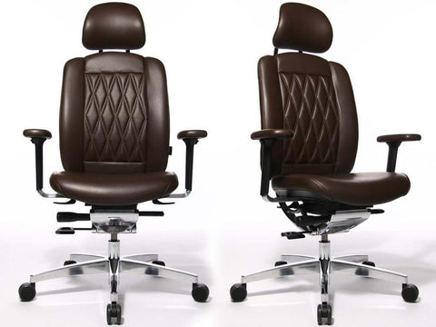 ALUMEDIC LIMITED S HEADREST LEATHER DARK BROWN