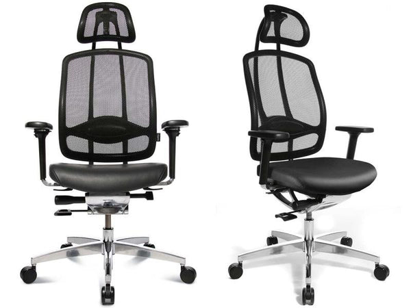 ALUMEDIC 10 LEATHER BLACK (WITH HEADREST)