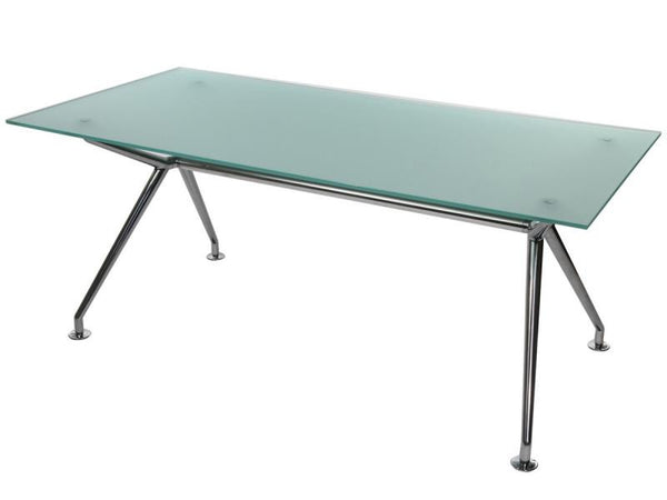W-TABLE 900 X 1800 POLISHED ALUMINIUM CLEAR GLASS