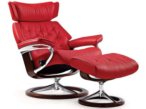 STRESSLESS SKYLINE M SET PALOMA TOMATO RED WENGE