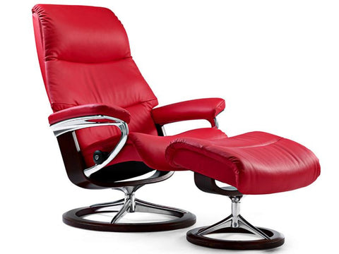 STRESSLESS VIEW M SET PALOMA TOMATO RED WENGE