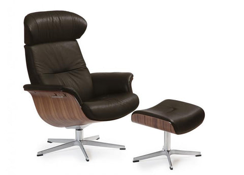 TIMEOUT RECLINER NATURELLE DARK BROWN / WALNUT