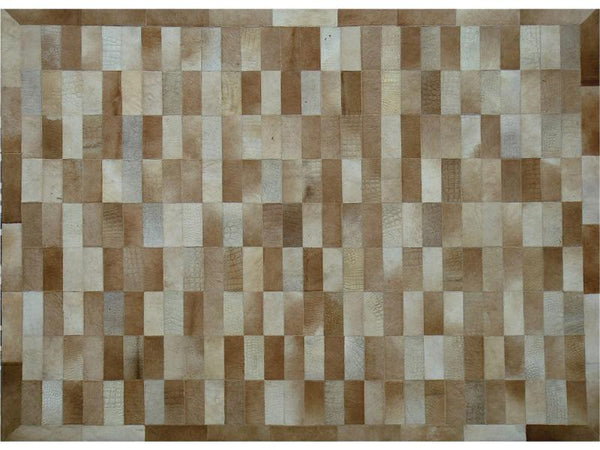 REPTILLA LIGHT BROWN LEATHER CARPET 170X240