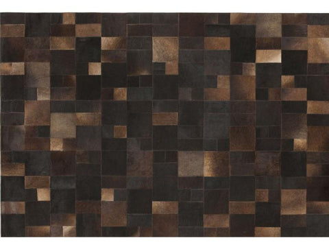 BRILLIANT BROWN LEATHER CARPET 170X240