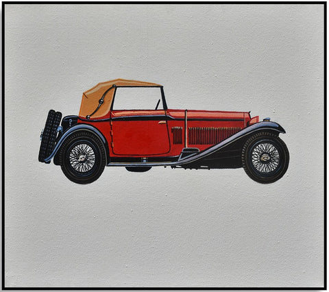 Classic Car Red 45cm x 40cm(h)