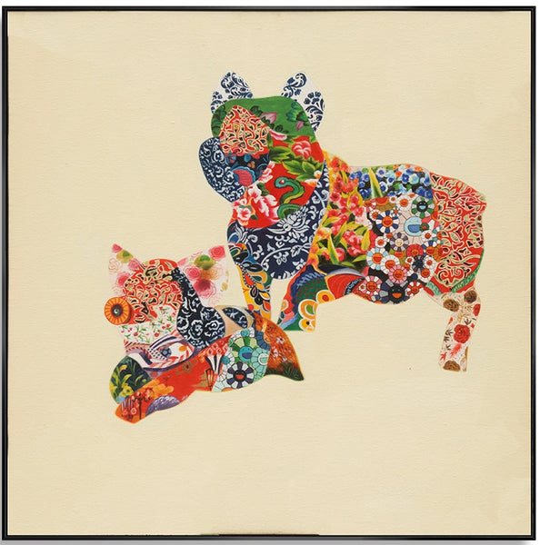 Patterned Pigs 80cm x 80cm (H)