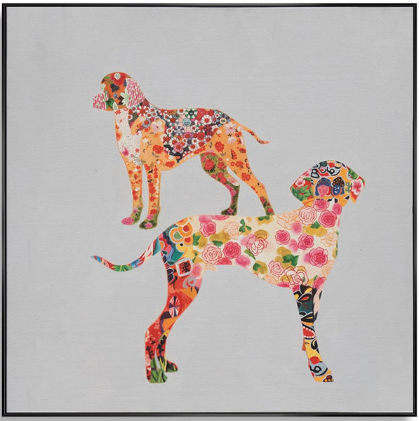 Patterned Dogs 80cm x 80cm (H)