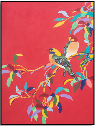 Colourful Birds 90cm x 120cm (H)