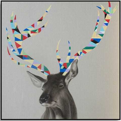Colourful Antlers 120cm x 120cm (H)