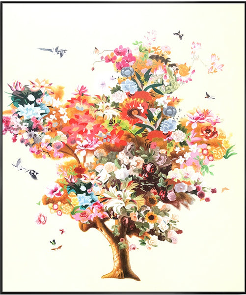 Summer Tree w Birds 130cm x 150cm (H)
