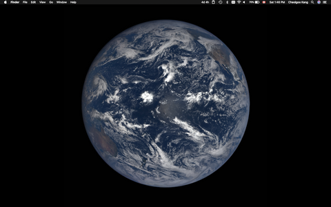 Preview of the macOS Mojave dynamic wallpaper