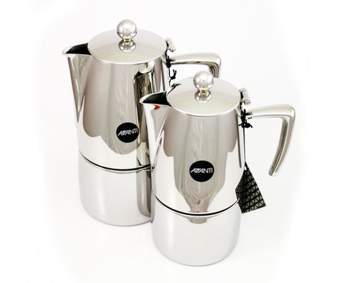 Avanti Art Deco Stainless Steel Stovetops coffee maker