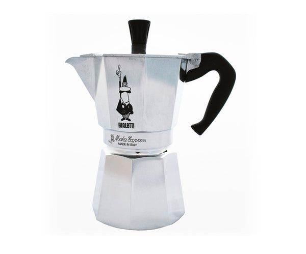Bialetti Moka Stovetop Coffee Makers - 3 cup - Made in Italy