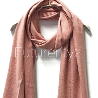 Blush Pink Cashmere Scarf With Silver Sparkling Studs/Autumn Winter Scarf/Gifts For Mother/Gifts For Her/Scarf For Women/Christmas Gifts