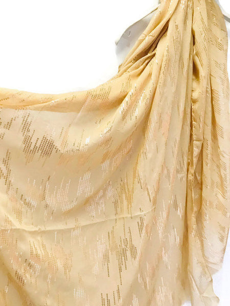 Rose Gold Sequins Print Beige Evening Cotton Scarf/Spring Summer Autumn Scarf/Gifts For Her/Scarf For Women/Gifts For Mother/Birthday Gifts