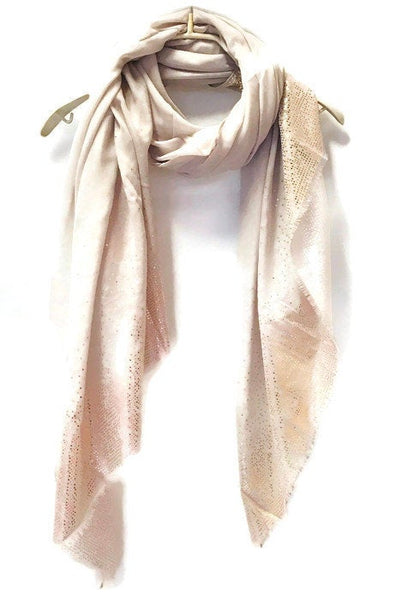 Rose Gold Triangle Flakes Light Grey Cotton Scarf/Spring Summer Autumn Scarf/Evening Scarf/Gifts for Her/Gifts For Mother/Scarf For Women