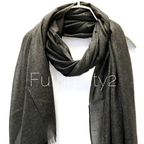 Shimmering Plain Black Scarf/Spring  Summer Scarf/Evening Scarf/Gifts For Mom/Gifts For Her/Wedding Scarf/Scarves For Women