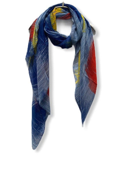 Floating Huge Feathers Cotton Scarf/ Blue Scarf/Scarves Women/Birthday Gifts/Spring Summer Scarf/Gifts For Her/Gifts For Mom/Christmas Gifts