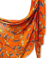 Sketched Tulips Flower Orange Cotton Scarf/Spring Summer Scarf/Gifts For Her/Gifts For Mother/Scarves Women/Birthday Gifts/Christmas Gifts