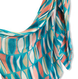 Seamless Geo Pattern Light Blue Cotton Scarf/Spring Summer Autumn Scarf/Gifts For Her/Gifts For Mum/Scarf Women/Birthday Christmas Gifts