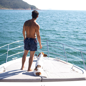 yacht dog swim shorts hong kong ocean weekend escape asia trips holiday vacation