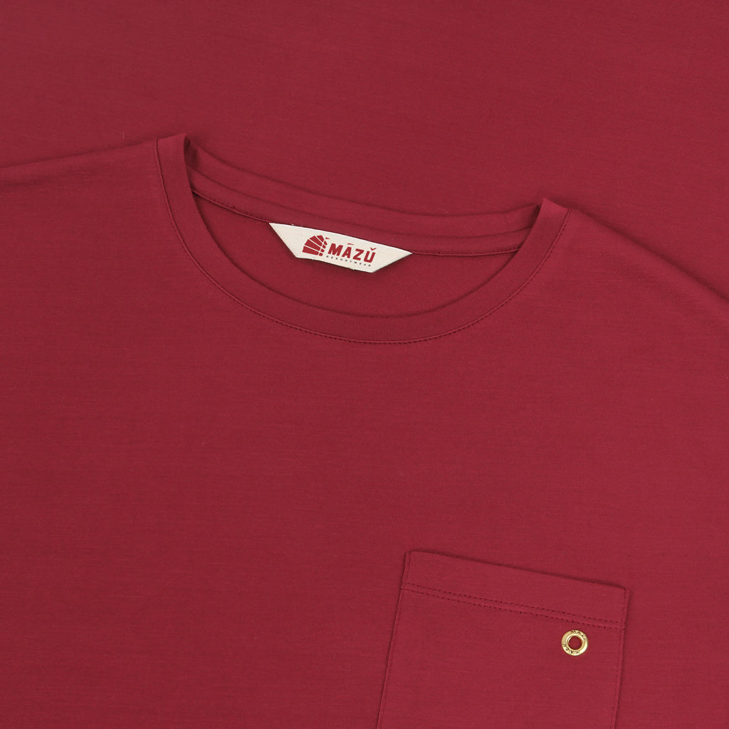 Zhu T-Shirts - Tanbark Red