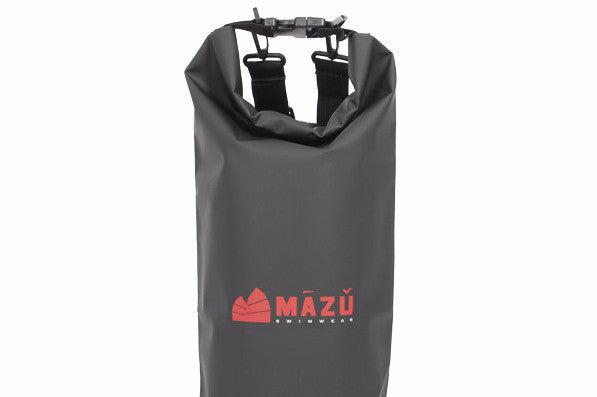 The Mazu Resortwear waterproof bag that can hold up to 10 litres of stroage. The dry bag is easy to clean, floats in the water, durable and lightweight with detachable double straps for comfort.