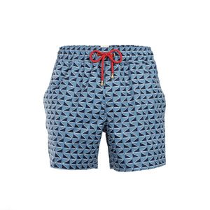 Mazu Resortwear Classic Swim Shorts | Qing Dynasty | Flag Design