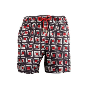 Mazu Resortwear Classic Swim Shorts | Fuzhou Mosaic | Asian Mosaic Design